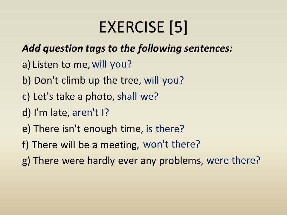EXERCISE [5]